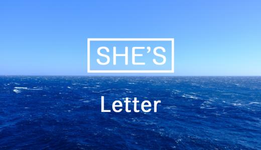 【楽譜】Letter / SHE'S